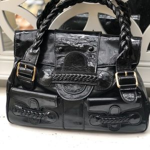 Valentino Histoire Bag Black Patent. Gently Used